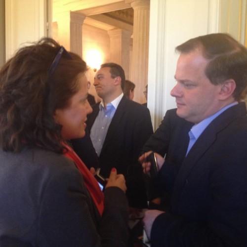 Με τον βουλευτή της Ν.Δ. Σερρών Κώστα Καραμανλή στη συνάντηση γνωριμίας με τους νεοκλεγέντες βουλευτές της Ν.Δ.