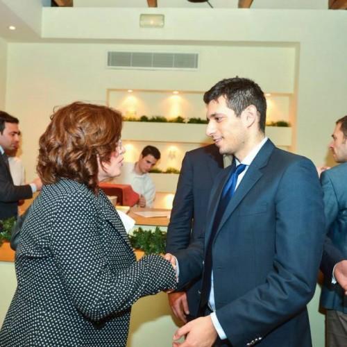 Με τον πρόεδρο του YEPP Κωνσταντίνο Κυρανάκη
