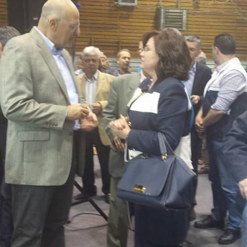 Με τον βουλευτή της Ν.Δ. Νίκο Δένδια στην εκδήλωση ΟΧΙ ''Μπαλτά'' στην Παιδεία