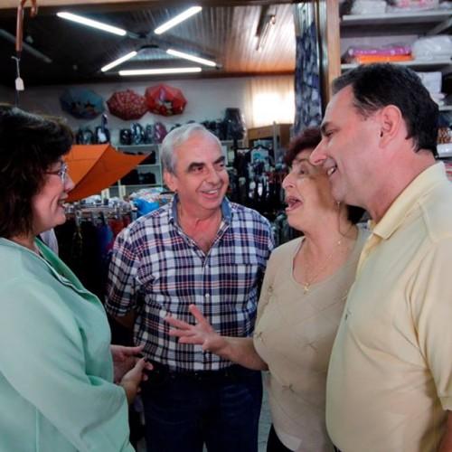 Με τον βουλευτή της ΝΔ του Κιλκίς Γιώργο Γεωργαντά στην αγορά της πόλης, μιλάμε με εμπόρους και πολίτες του νομού