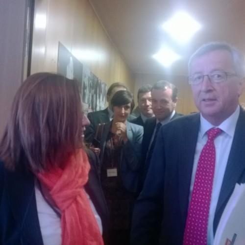 Συνάντηση Μαρίας Σπυράκη με Ζαν Κλοντ Γιούνκερ στο περιθώριο της Ολομέλειας στο Στρασβούργο